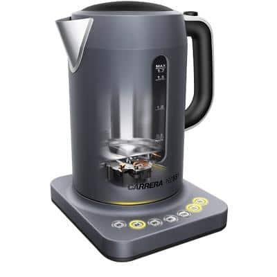 CARRERA N/A Electric Kettle 1.7 L Stainless Steel, Plastic Grey 2200 W