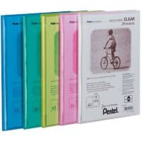 Pentel Display Book Recycology A4 Assorted Polypropylene 24 x 3 x 32 cm Pack of 5
