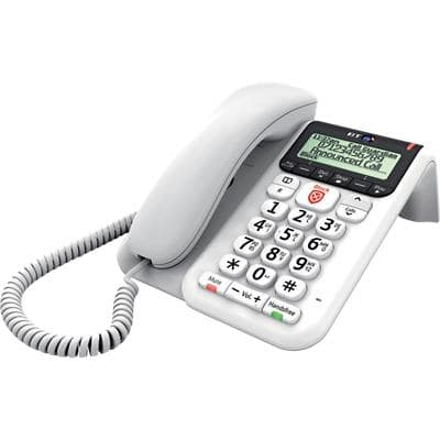 BT Decor 2600 Corded Telephone White