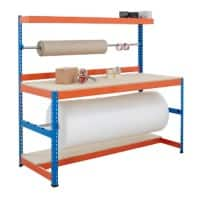 Bigdug Packing Workbench Big400 B4PS1509BO Steel Chipboard 400 kg Blue and Orange 1677 x 1525 x 915