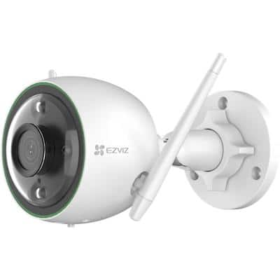 EZVIZ Smart Wi-Fi Camera, Night Vision Security Camera C3N Outdoor 1080p White