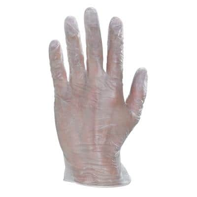 CLICK MEDICAL Gloves Vinyl Size M Transparent Pack of 100