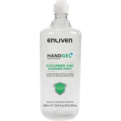 Enliven Hand Sanitiser Gel Professional Cucumber and Garden Mint 1 L
