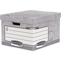 Fellowes BANKERS BOX System Archive Boxes Grey 29.4 x 38.7 x 44.5 cm 10 Pieces