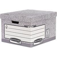 BANKERS BOX System Large FastFold Archive Boxes Grey Pack of 10