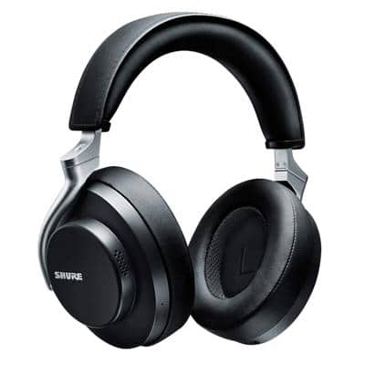 Shure Wireless Headphones AONIC 50 Over-the-Head Bluetooth Noise Isolating With Microphone Black