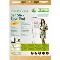 Bi-Office Earth-It Adhesive Flipchart Pad A1 80 g/m² Plain Pack of 2 with 30 Sheets