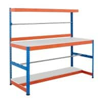 Bigdug Packing Workbench Big400 B4MPB7BO Steel Chipboard 300 kg Blue and Orange 920 x 915 x 610