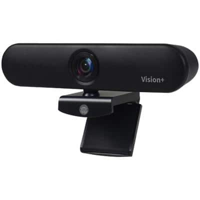 JPL Webcam Vision+ Black USB Dual Microphone 2MP Digital Camera 127.7 X 50 X 55.3