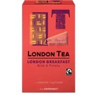 THE LONDON TEA COMPANY Brisk & Punchy Tea Bags Fairtrade 50g