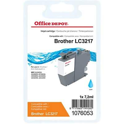 Office Depot Compatible Brother LC-3217C Ink Cartridge Cyan