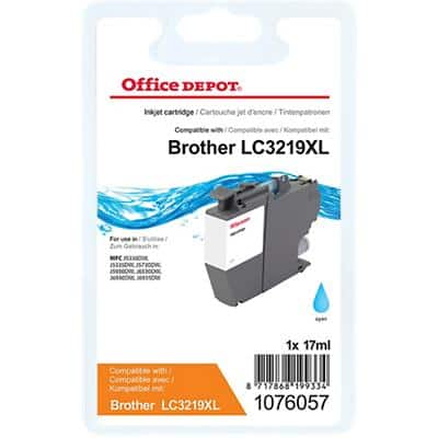 Office Depot Compatible Brother LC3219XLC Ink Cartridge Cyan