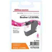 Office Depot Compatible Brother LC3219XLM Ink Cartridge Magenta