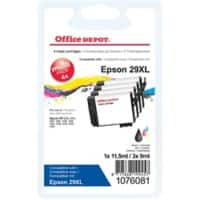 Office Depot Compatible Epson 29XL Ink Cartridge Black & 3 Colours Pack of 4