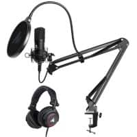 Maono Podcasting Microphone Kit With Studio Headphones Black
