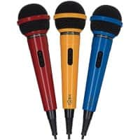 Maplin Dynamic Directional Microphones MAP290 Red, Blue, Yellow Pack of 3
