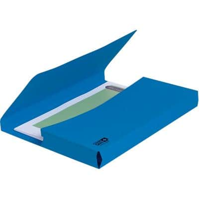 Exacompta Document Wallet 47222E CleanSafe Foolscap Blue 350 x 242 mm Pack of 5