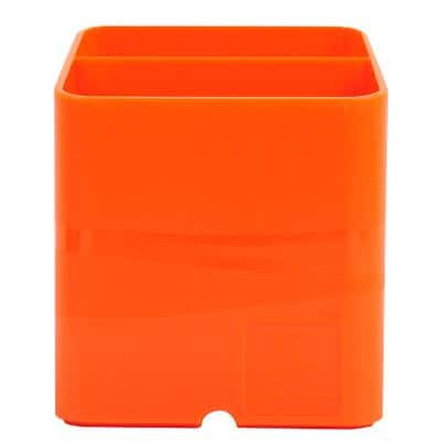 Exacompta Pen Pot 67788D Classic Polysterene 93 x 74 x 74 mm Tangerine Pack of 10