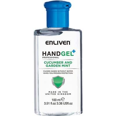 Enliven Hand Sanitiser Gel Professional Cucumber and Garden Mint 100 ml