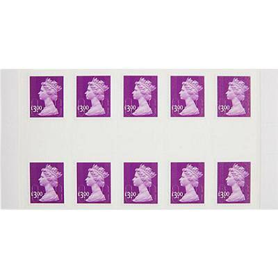 Royal Mail £3.00 Postage Stamp Self Adhesive Pack of 10