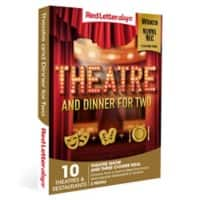 Red Letter days Theatre and Dinner for Two