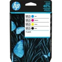 HP 953 Original Ink Cartridge 6ZC69AE Black, Cyan, Magenta, Yellow Pack of 4