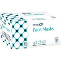 Proteqt Face Mask Type IIR Non Woven White 50 Pieces