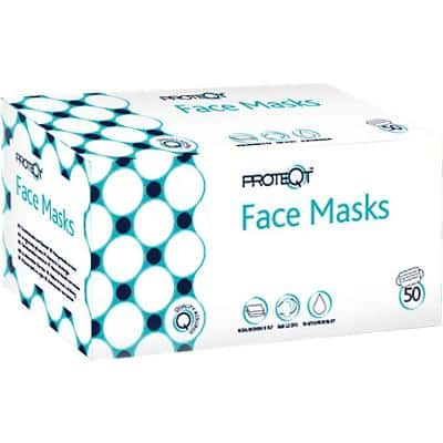 Proteqt Medical Face Mask Type IIR Non Woven Blue Pack of 50