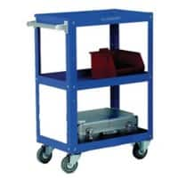 SLINGSBY Mobile Trolley with 3 Tiers Steel Blue 400 x 670 x 915 mm