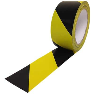 Hazard Warning Tape 48 mm x 33 m Black, Yellow
