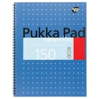 Pukka Pad Notebook Easy-Riter A4+ Ruled Blue 3 Pieces of 75 Sheets