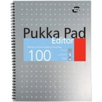 Pukka Pad Notebook Editor A4+ Ruled Grey 3 Pieces of 50 Sheets