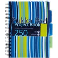 Pukka Pad Project Book A5 Ruled Assorted 3 Pieces of 125 Sheets
