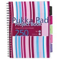Pukka Pad Project Book A4 Ruled White 3 Pieces of 125 Sheets