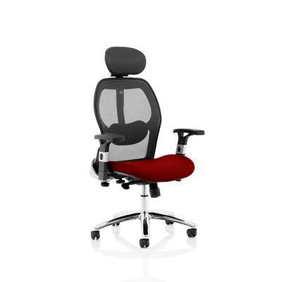Dynamic Basic Tilt Executive Chair Height Adjustable Arms Sanderson II With Headrest High Back