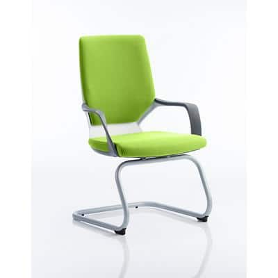 Visitor Chair Xenon White Shell Upholstered Seat In Myrrh Green
