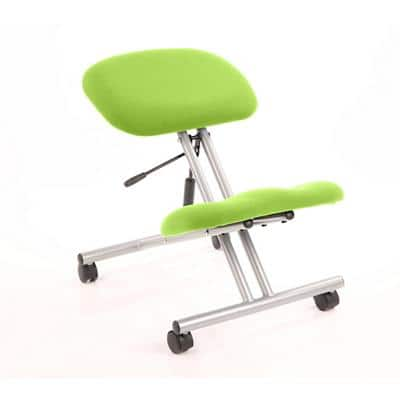Posture Chair Kneeling Stool Silver Frame In Fabric Myrrh Green