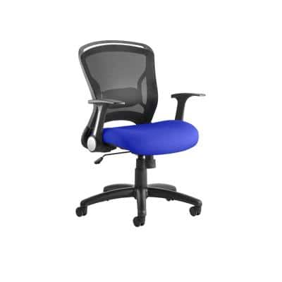 Task Office Chair Zeus Fabric Seat Stevia Blue With Folding Arms