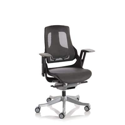 Dynamic Synchro Tilt Executive Chair Height Adjustable Arms Zure Black Frame Without Headrest High Back