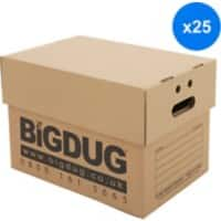 BiGDUG Archive Boxes Brown Cardboard 320(h) x 322(w) x 480(d) mm Pack of 25