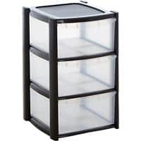 BiGDUG Storage Tower Clear Plastic 39 x 39 x 65 cm