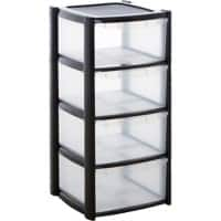 BiGDUG Storage Tower Clear Plastic 39 x 39 x 85 cm