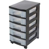 Really Useful Box Storage Tower 35 L Clear Plastic 30 x 42 x 61 cm