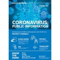 Health & Safety Poster Corona Virus: Public Health Plastic 42 x 59.4 cm