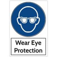 Trodat Health and Safety Sign Wear eye protection Aluminium 20 x 30 cm