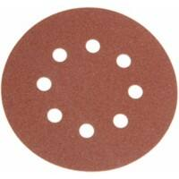Faithfull Hook and Loop Sanding Discs DID3 Holed 60G 125mm 5 Packs of 25