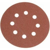 Faithfull Hook and Loop Sanding Discs DID3 Holed 80G 125mm 6 Packs of 25