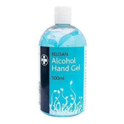 Reliance Medical Relisan Hand Sanitiser Gel Contains 70% Alcohol 500 ml