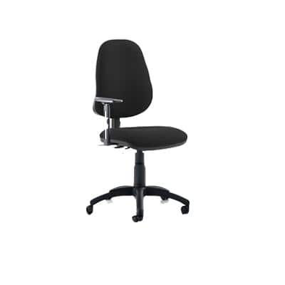 Task Office Chair Eclipse II Lever Black Fabric With Height Adjustable Arms