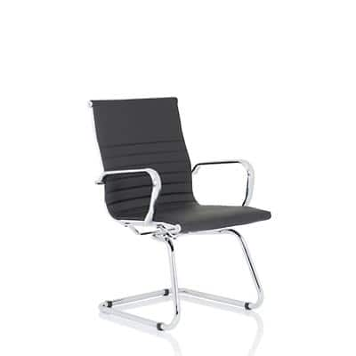 Visitor Chair Nola Cantilever Black Bonded Leather